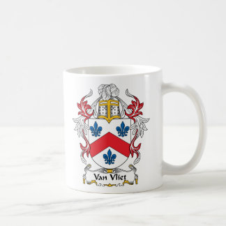 Escudo de Van Vliet Family Taza Clásica
