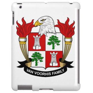 Escudo de Van Voorhis Family Funda Para iPad
