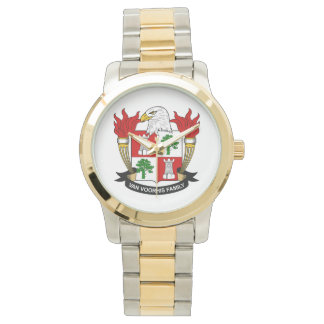 Escudo de Van Voorhis Family Reloj De Mano