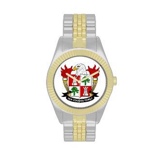 Escudo de Van Voorhis Family Relojes De Pulsera