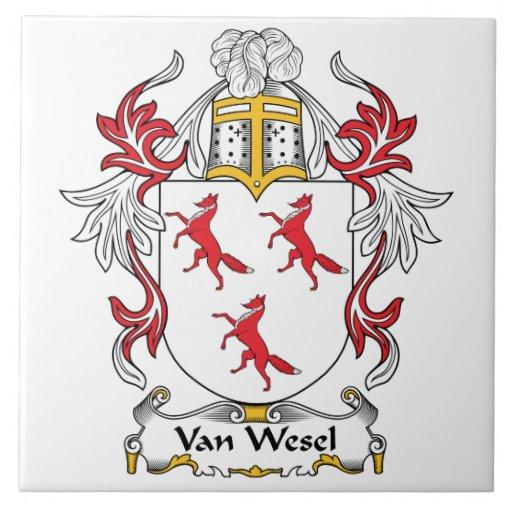 Escudo de Van Wesel Family Azulejo Cuadrado Grande