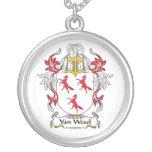 Escudo de Van Wesel Family Colgante Personalizado