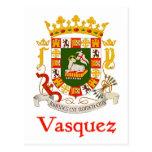Escudo de Vasquez de Puerto Rico Tarjetas Postales