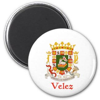 Escudo de Velez de Puerto Rico Imán Redondo 5 Cm