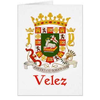 Escudo de Velez de Puerto Rico Tarjeta De Felicitación