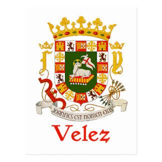 Escudo de Velez de Puerto Rico Tarjeta Postal