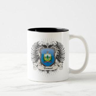 Escudo de Vermont Taza De Dos Tonos