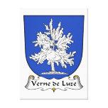 Escudo de Verne de Luze Family Impresion De Lienzo