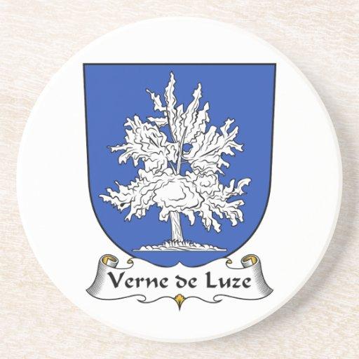 Escudo de Verne de Luze Family Posavasos Manualidades