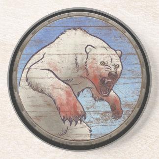 Escudo de Viking - oso polar Posavasos Personalizados