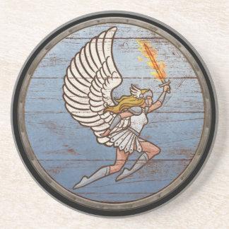 Escudo de Viking - Valkyrie Posavasos De Arenisca