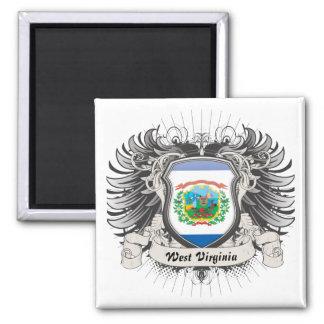 Escudo de Virginia Occidental Imán Cuadrado