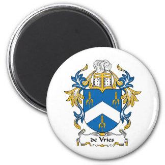 escudo de Vries Family Imán Redondo 5 Cm