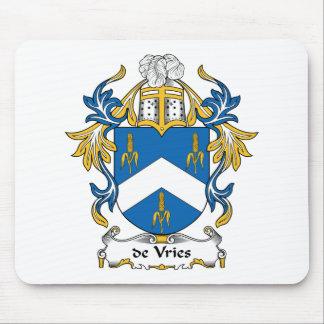 escudo de Vries Family Tapetes De Ratón
