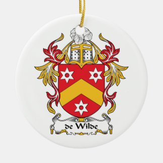 escudo de Wilde Family Adorno Redondo De Cerámica