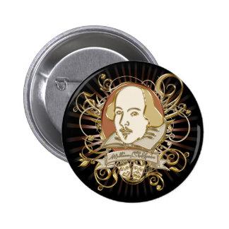 Escudo de William Shakespeare (oro) Pin