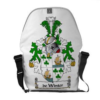 escudo de Winter Family Bolsa De Mensajeria