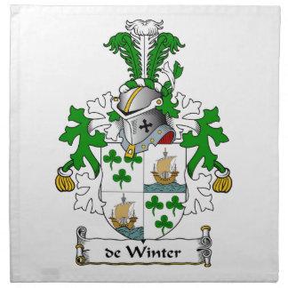 escudo de Winter Family Servilletas De Papel