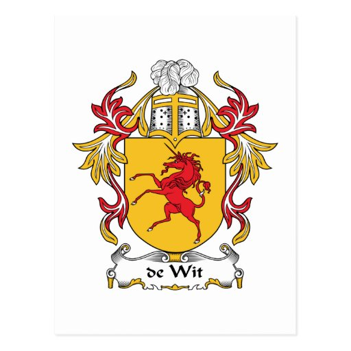 escudo de Wit Family Postales