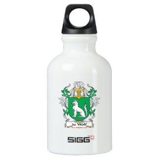 escudo de Wolf Family Botella De Agua