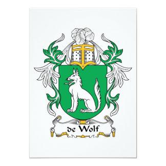 """escudo de Wolf Family Invitación 5"""" X 7"""""""