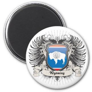 Escudo de Wyoming Imán Redondo 5 Cm