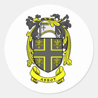 Escudo del abad etiqueta redonda