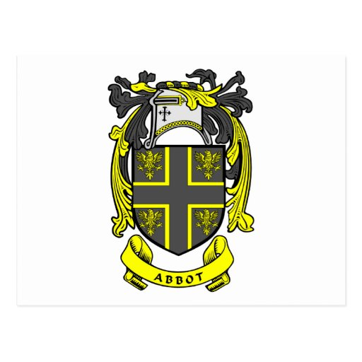 Escudo del abad postales