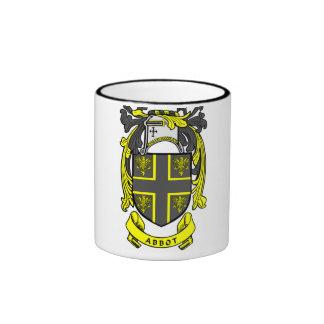 Escudo del abad tazas de café