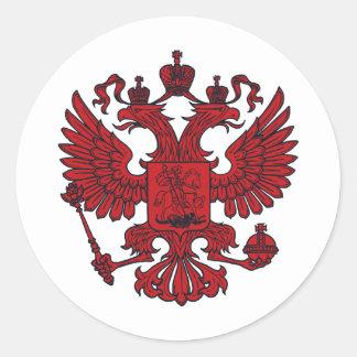 escudo del águila etiqueta redonda