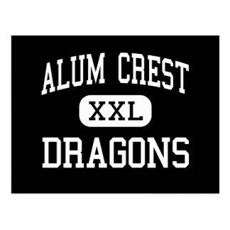 Escudo del alumbre - dragones - High School secund Postales