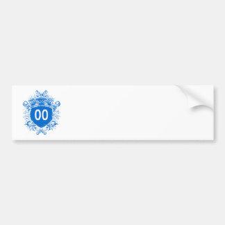 Escudo del azul #00 pegatina para auto