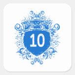 Escudo del azul #10 pegatina