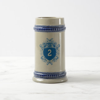 Escudo del azul #2 jarra de cerveza
