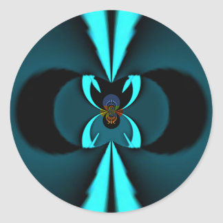 Escudo del azul de los regalos de Hakuna Matata Pegatina Redonda