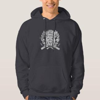 Escudo del Bbq - blanco llevado Suéter Con Capucha