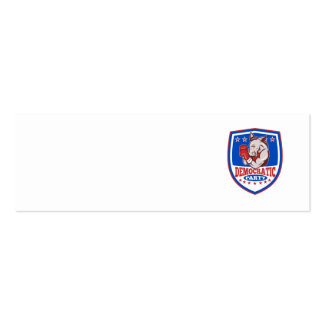 Escudo del boxeador de la mascota del burro de tarjetas de visita mini