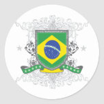 Escudo del Brasil Etiqueta