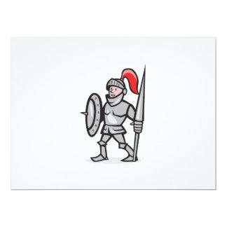 Escudo del caballero que lleva a cabo el dibujo invitación 16,5 x 22,2 cm