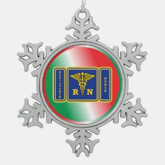 Escudo del caduceo de la ENFERMERA REGISTRADOA Adornos