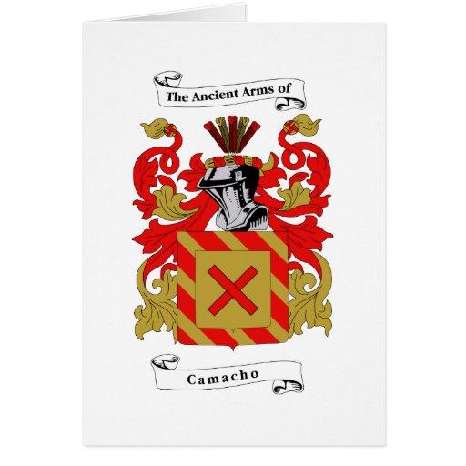 escudo del camacho felicitación