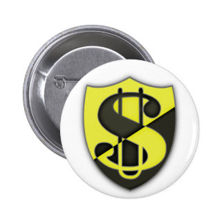 Escudo del capitalismo pin redondo 5 cm