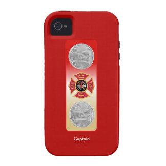 Escudo del capitán 2 trompeta del bombero Case-Mate iPhone 4 carcasa