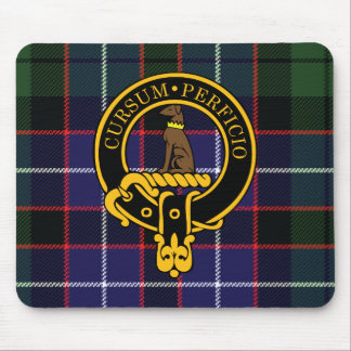 Escudo del cazador y cojín de ratón escoceses del