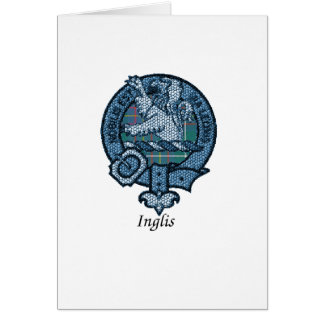 Escudo del clan de Inglis Tarjeta De Felicitación