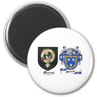 Escudo del clan de Murray y escudo de armas de Mur Imán Redondo 5 Cm