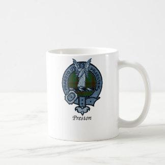 Escudo del clan de Preston Taza Básica Blanca