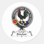 Escudo del clan de Sinclair Etiquetas Redondas