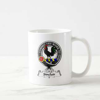 Escudo del clan de Sinclair Taza Básica Blanca