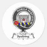 Escudo del clan de Spalding Pegatina Redonda